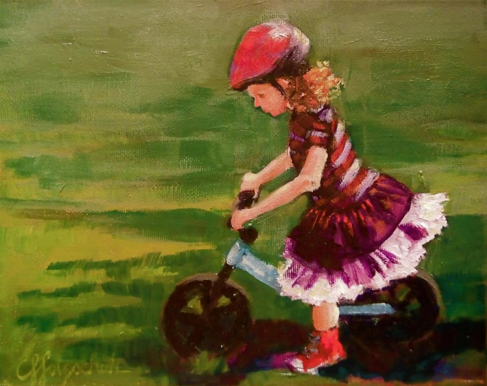 """Ready, Set, Go!"" original fine art by Christine Holzschuh"