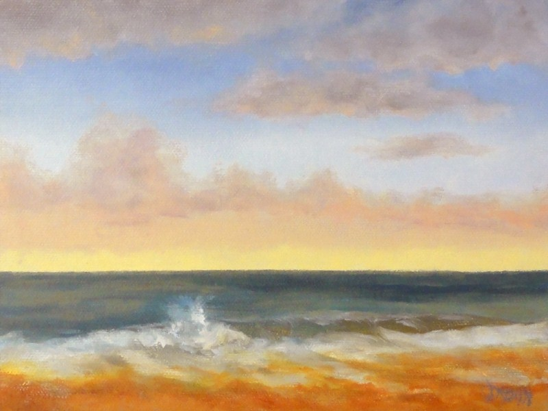 """Hawaiian Green Wave Sunrise"" original fine art by Dalan Wells"