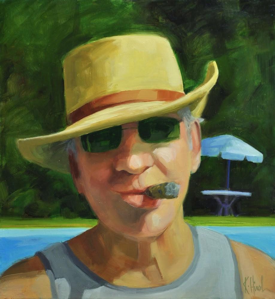 """""""Uncle Don"""" original fine art by kathy hirsh"""