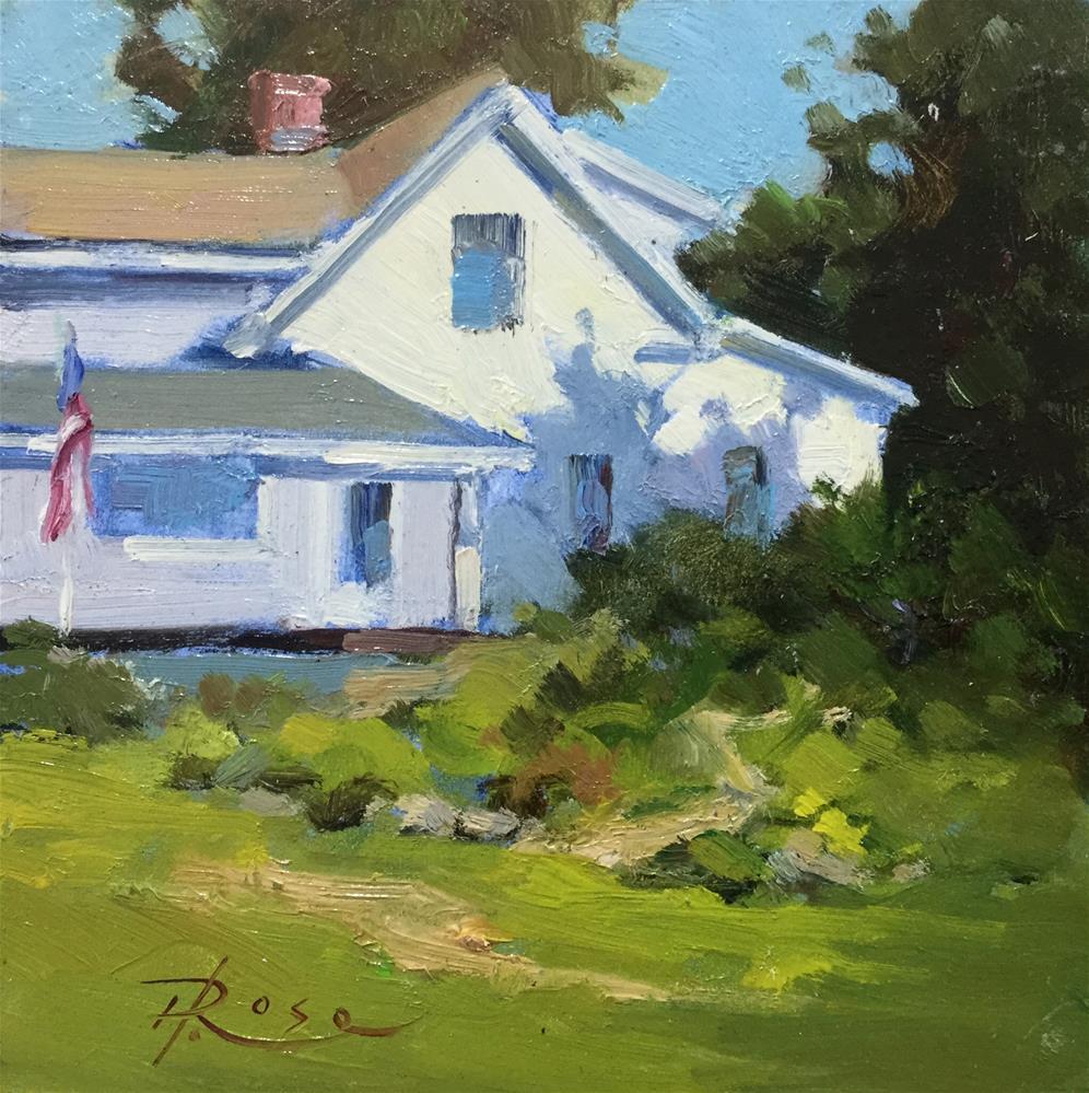 """Sebasco lodge"" original fine art by Howard Rose"