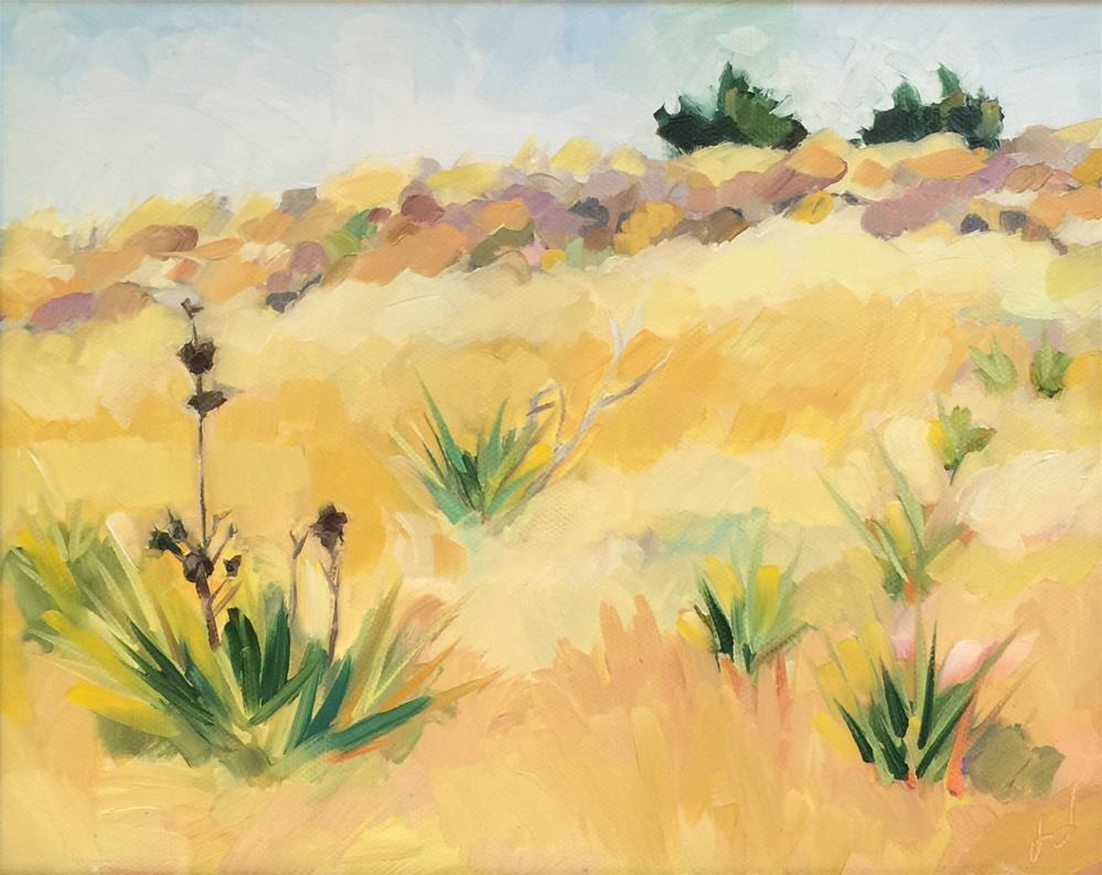 """Desert Hillside"" original fine art by Jessie Dodington"