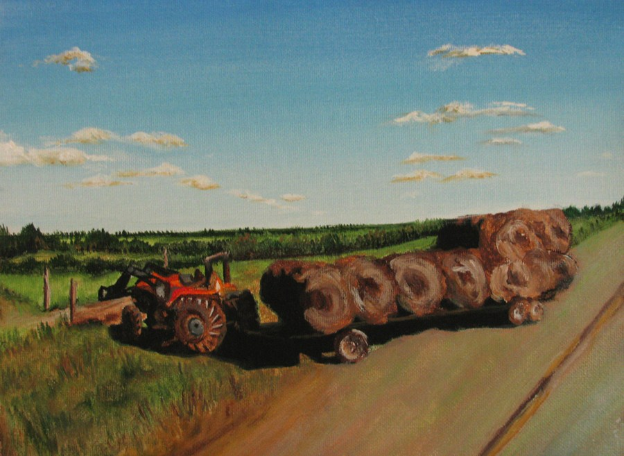 """Hay There"" original fine art by Nan Johnson"