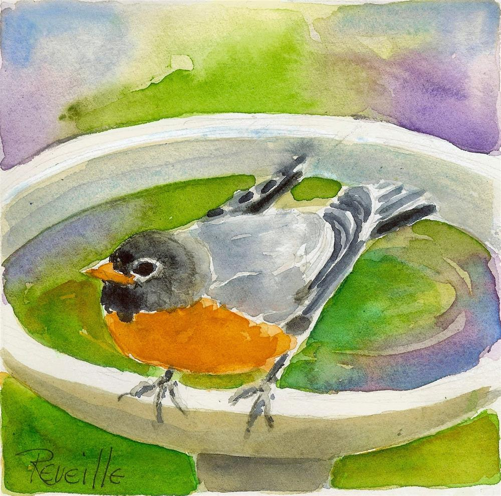"""Clean as a Robin's Whistle"" original fine art by Reveille Kennedy"