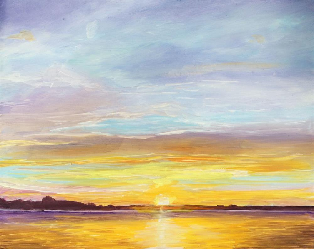 """Siesta Key Sunset"" original fine art by Kim Clay"