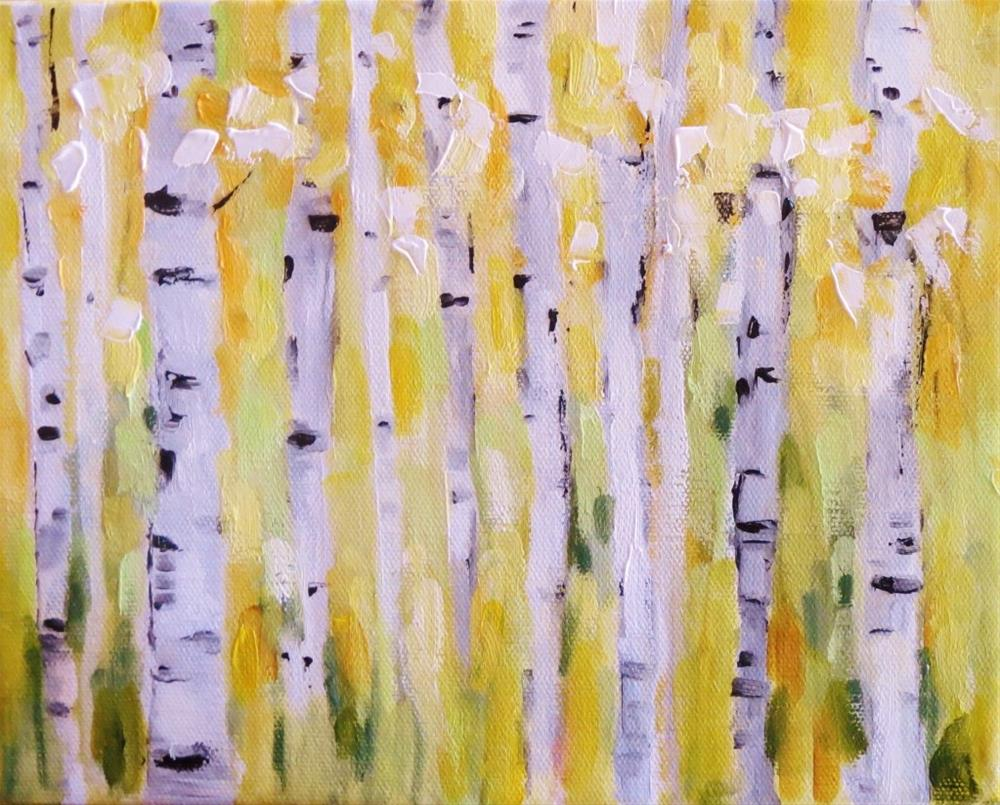 """Birch trees"" original fine art by Astrid Buchhammer"