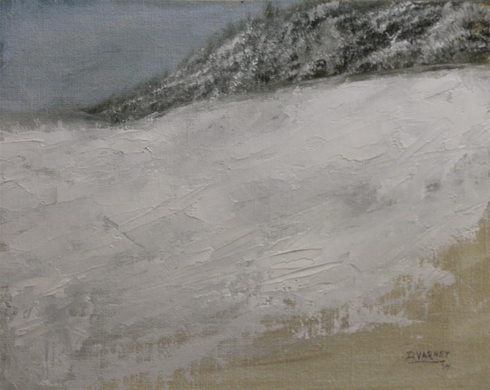 """Snowy Landscape Study"" original fine art by Daniel Varney"