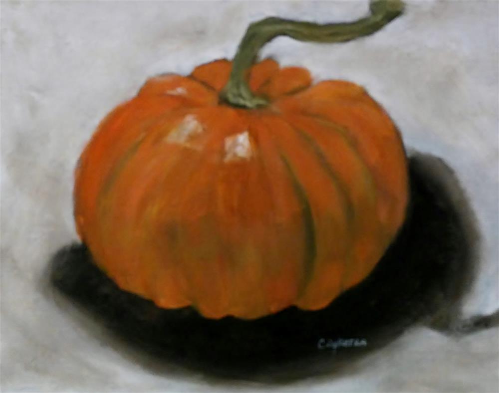 """Mini Pumpkin"" original fine art by Cathy Dykstra"