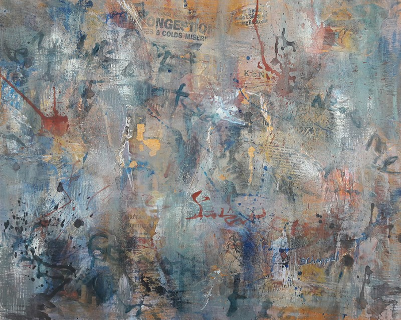 """""""Wall Memories"""" original fine art by Becky Chappell"""