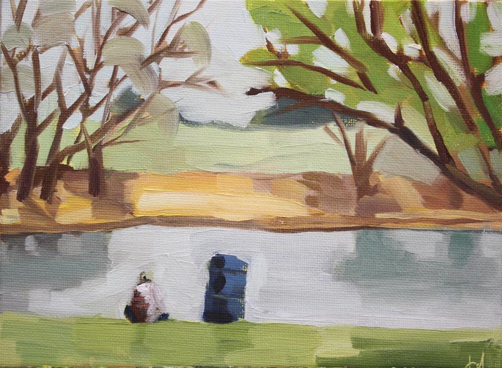 """Just Fishing"" original fine art by Jessie Dodington"