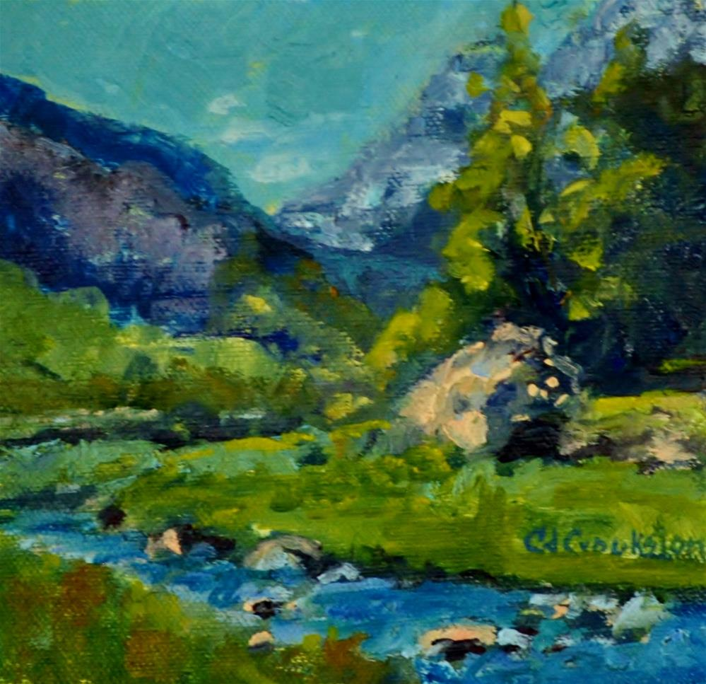 """Boulder Stream"" original fine art by Catherine Crookston"