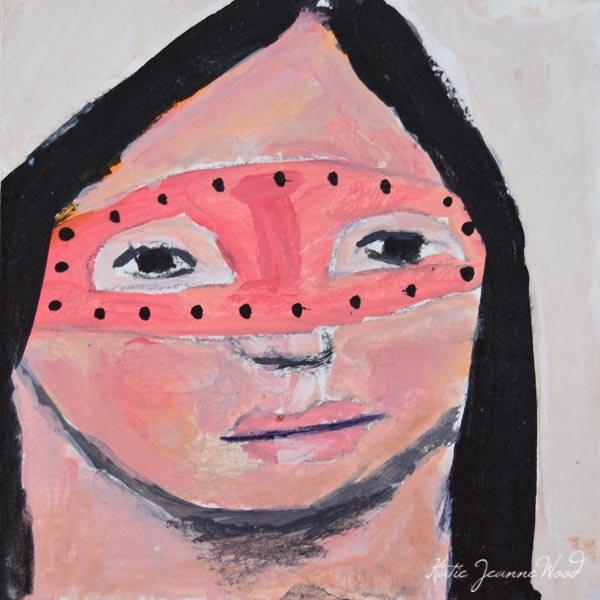 """""""Masquerade Mask No 17"""" original fine art by Katie Jeanne Wood"""
