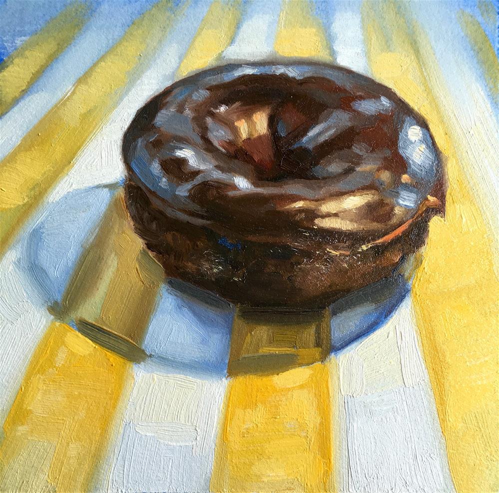 """Doughnuts for Breakfast III"" original fine art by Shineh Kim Yoon"