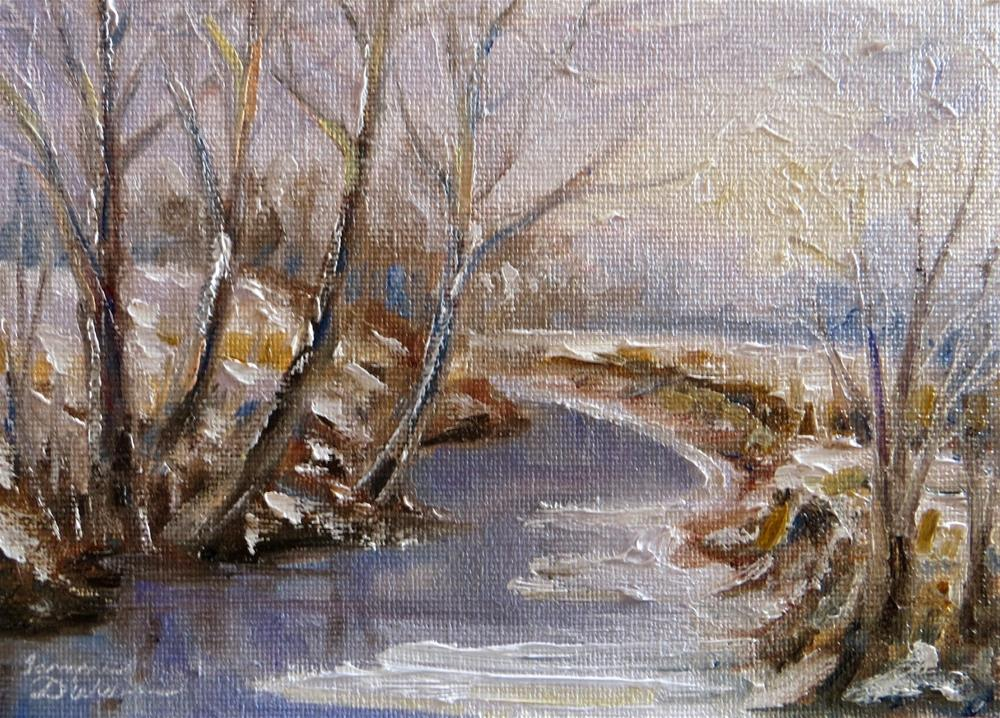 """Frozen Creek"" original fine art by Tammie Dickerson"