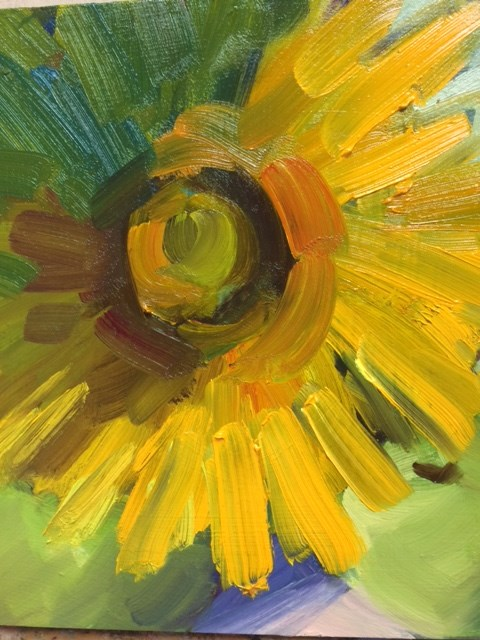"""Sunflower and Apples"" original fine art by Naomi Bautista"