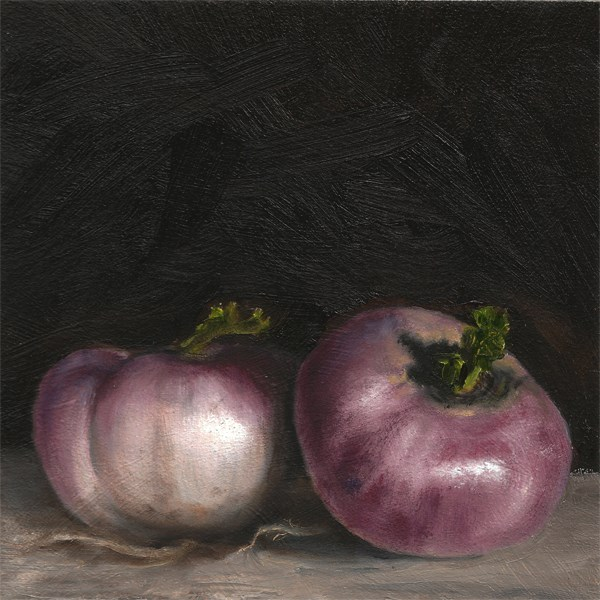 """A turnip of my own"" original fine art by Peter J Sandford"