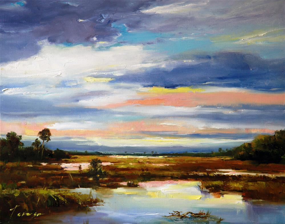 """Marsh"" original fine art by Teresa Yoo"