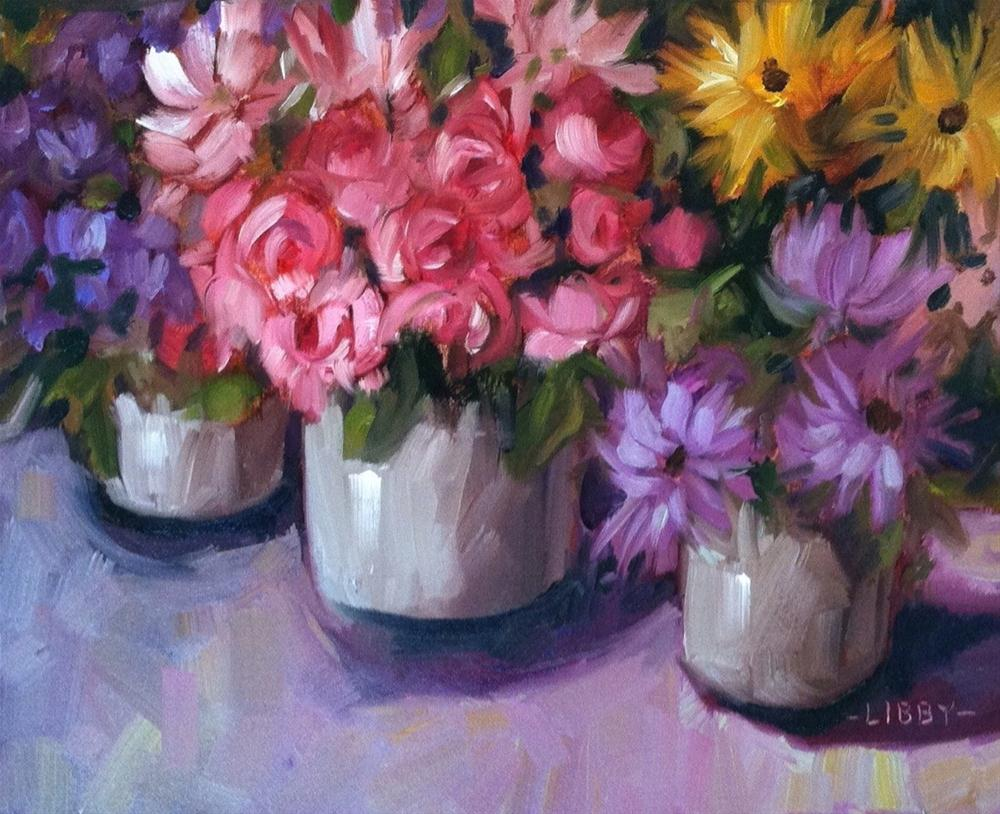 """Paris Market Flowers"" original fine art by Libby Anderson"