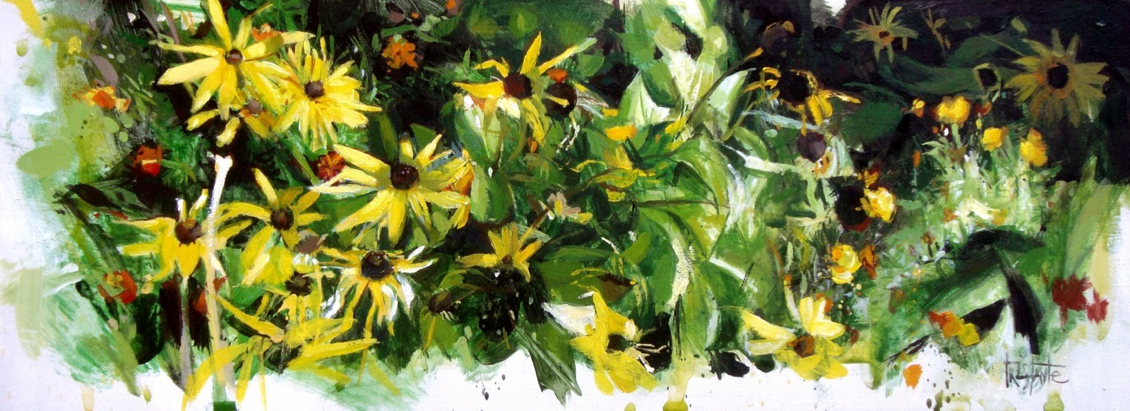 """Landscape of daisies"" original fine art by Víctor Tristante"