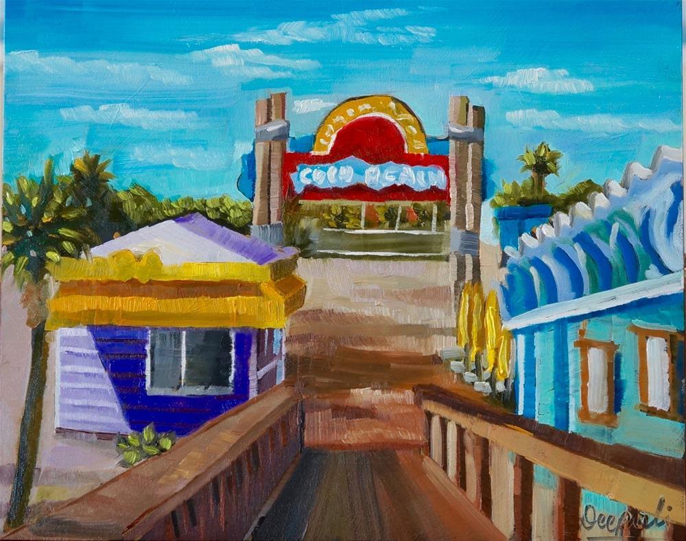 """coco beach pier"" original fine art by Dipali Rabadiya"