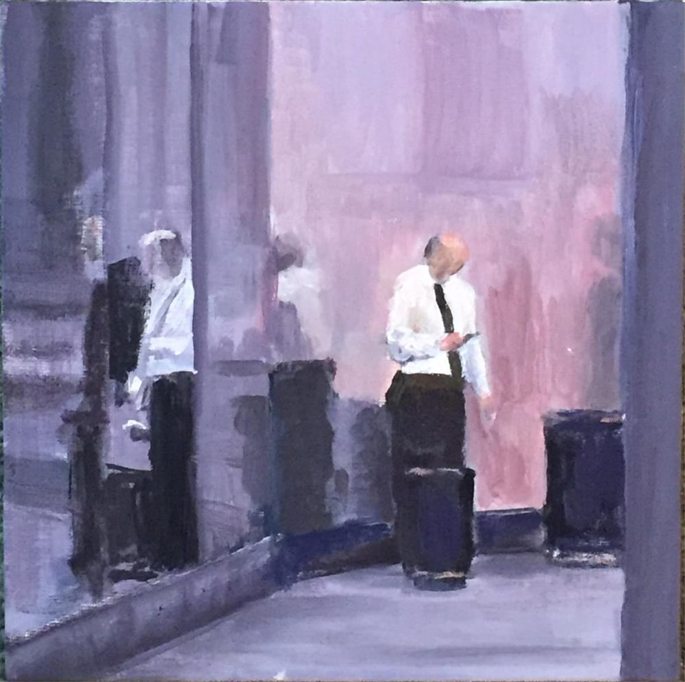 """Chicago Break Time"" original fine art by Michael Mikottis"
