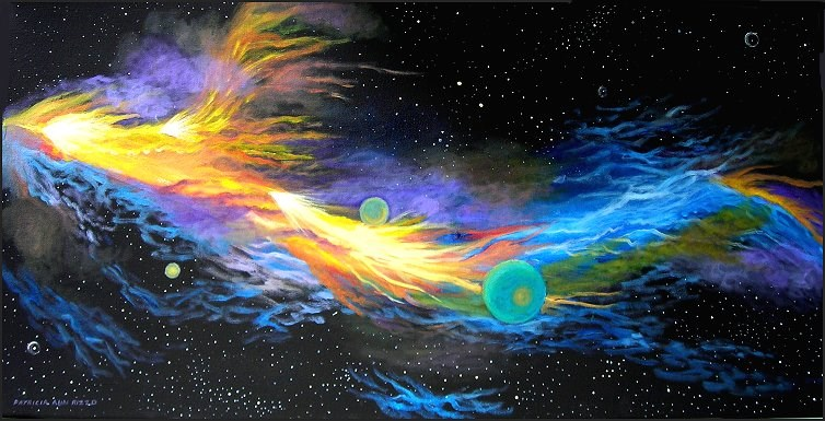 """Fire Dragon Nebula"" original fine art by Patricia Ann Rizzo"