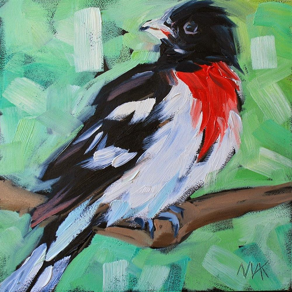 """Rose-breasted Grosbeak"" original fine art by Mary Anne Cary"