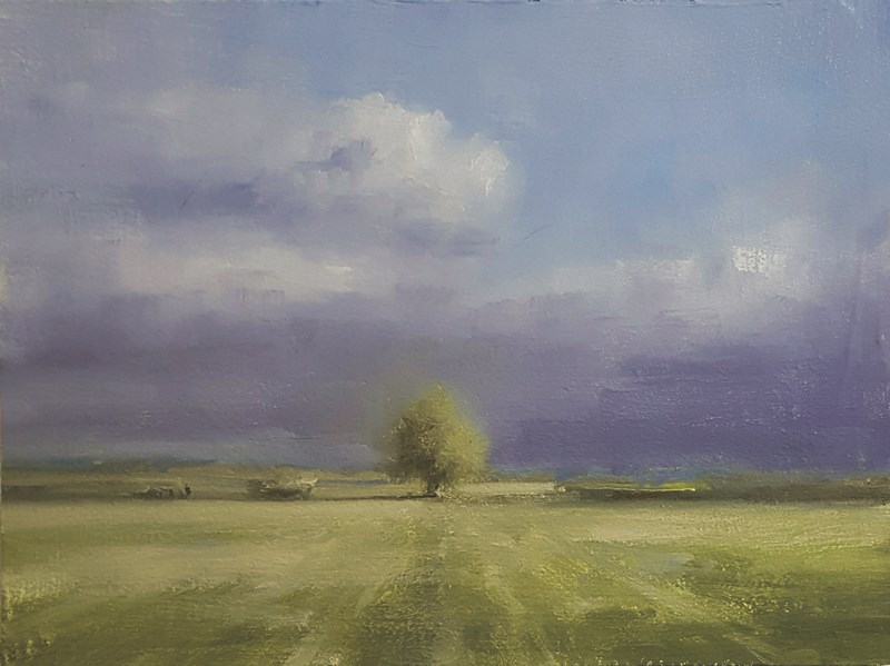 """Tree near Woburn"" original fine art by Neil Carroll"