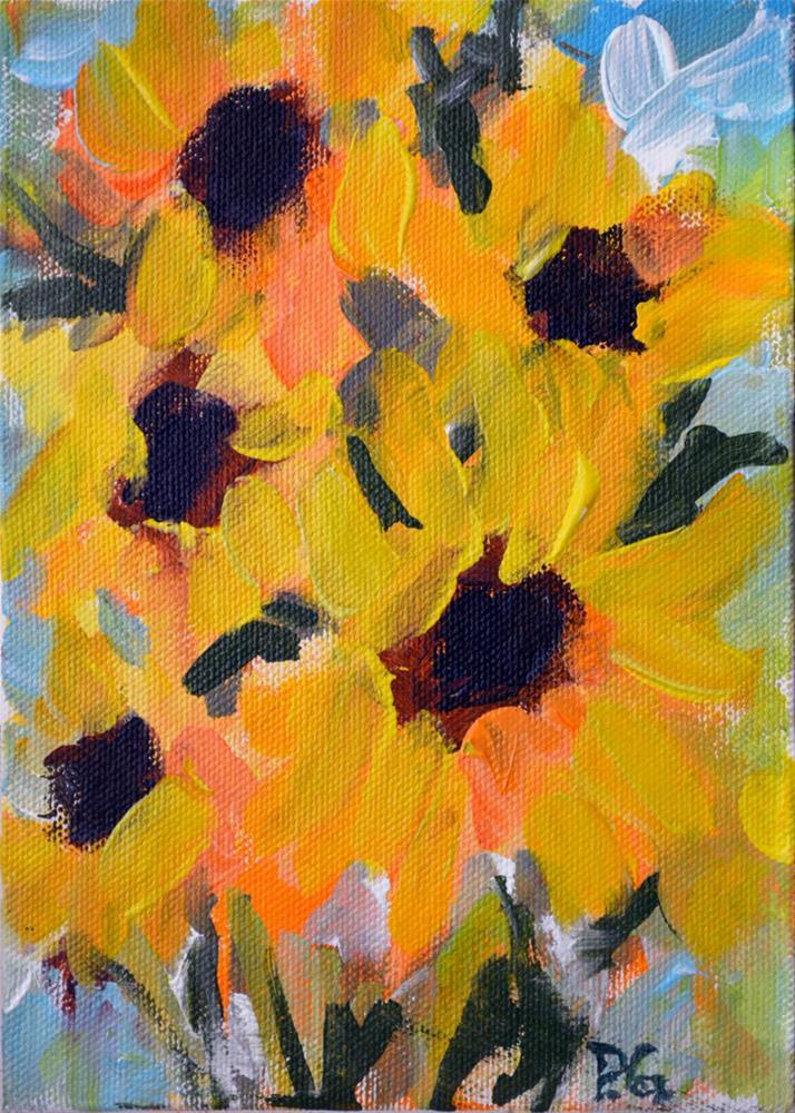 """""""Sunflower Patch"""" original fine art by Pamela Gatens"""