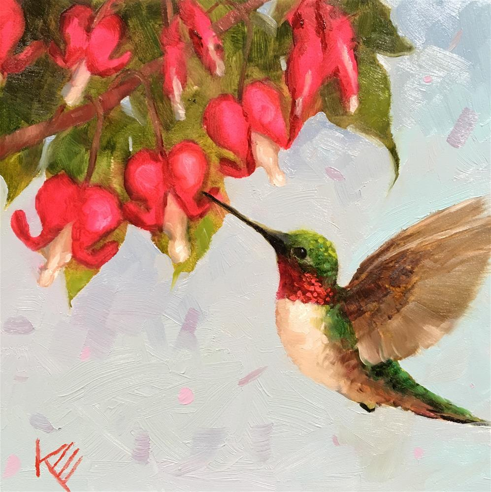 """Summer Hummer"" original fine art by Krista Eaton"