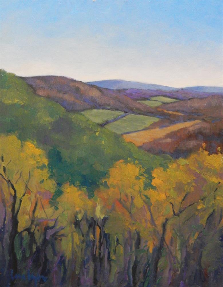 """View from Blue Ridge Vista"" original fine art by Lisa Kyle"