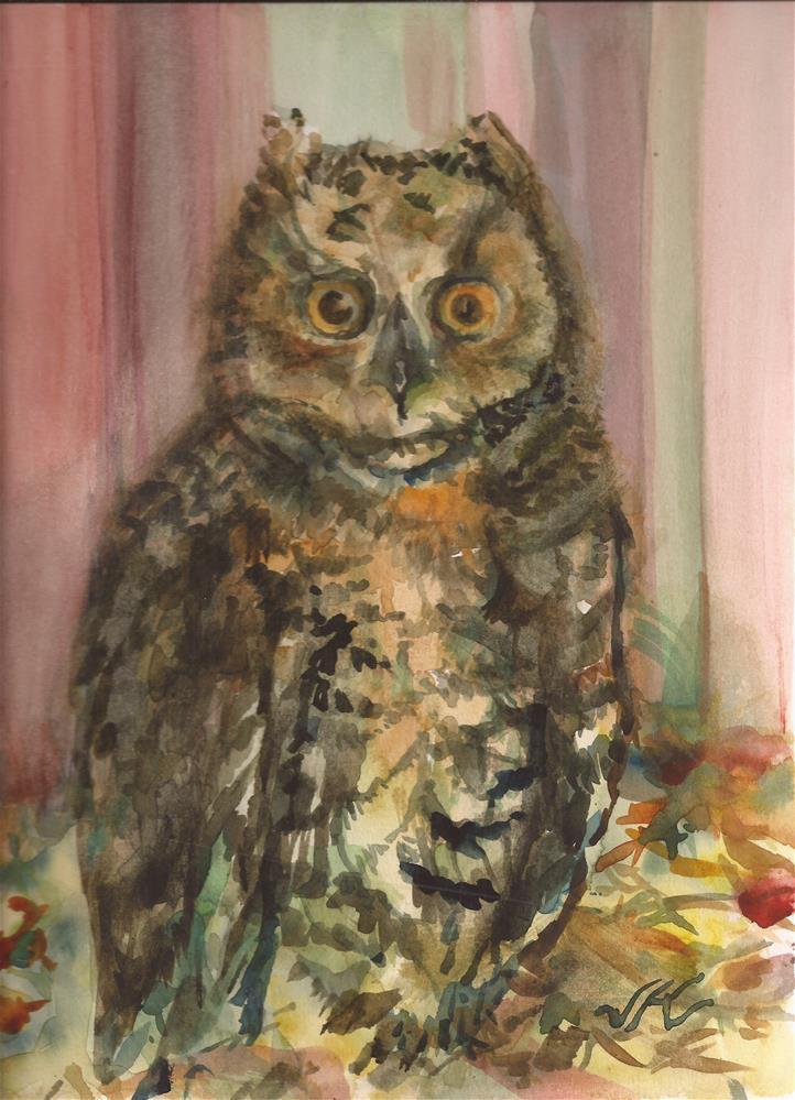 """Barn Owl"" original fine art by Jean Krueger"