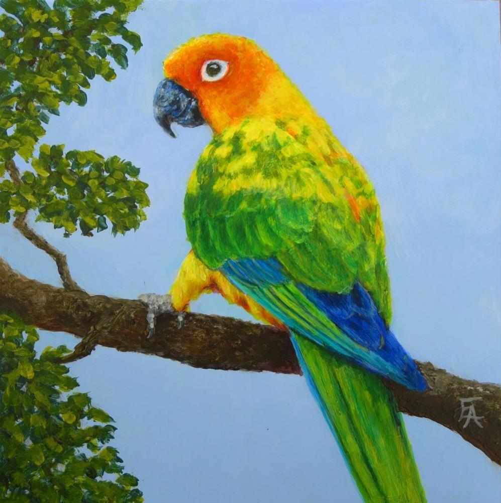 """Garuda Aviary Fundraiser - Desquartes"" original fine art by Elizabeth Elgin"