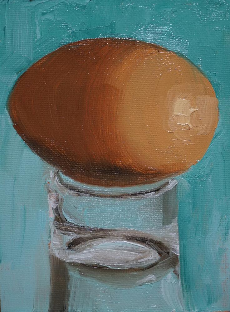 """Egg & Glass"" original fine art by Catherine Van Berg"