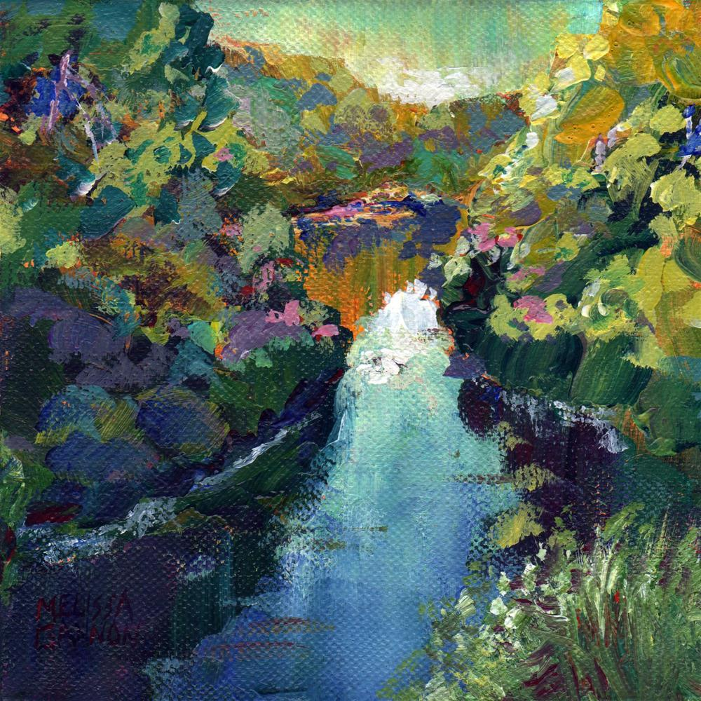 """Waterway III"" original fine art by Melissa Gannon"