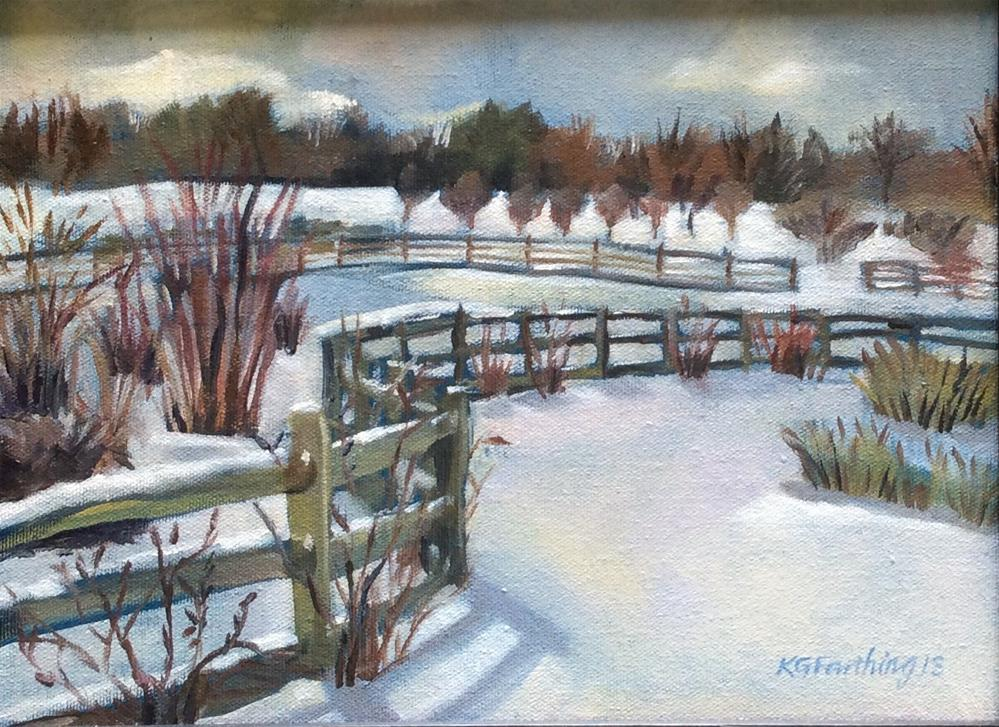 """Hot Chocolate Morning"" original fine art by Kathleen Gray Farthing"