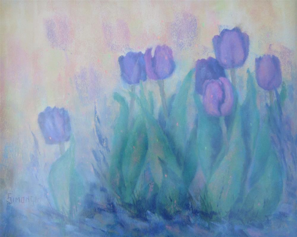 """Tulips from Jeff"" original fine art by Bev Simonson"