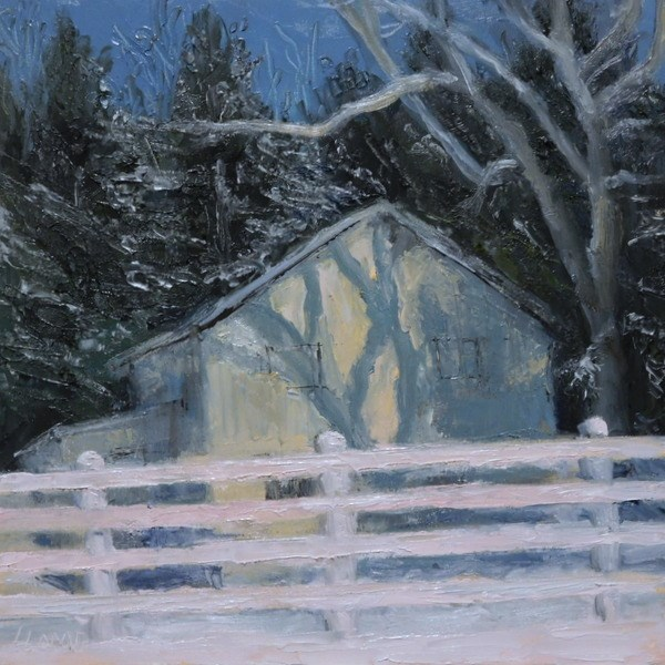 """Winter Shadows"" original fine art by Lori L. Lamb"