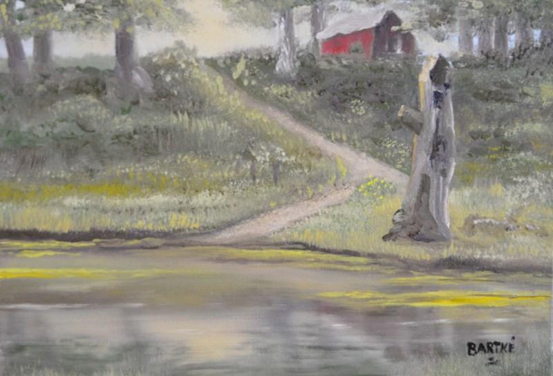 """Buck's Pond"" original fine art by Janice Bartke Thompson"