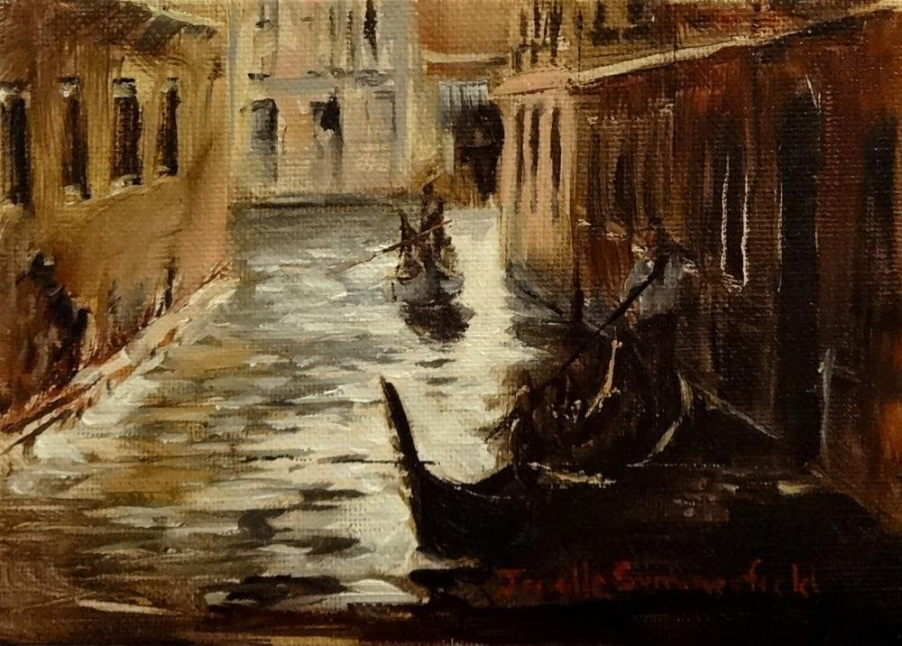 """Venetian Canal Study"" original fine art by Jonelle Summerfield"