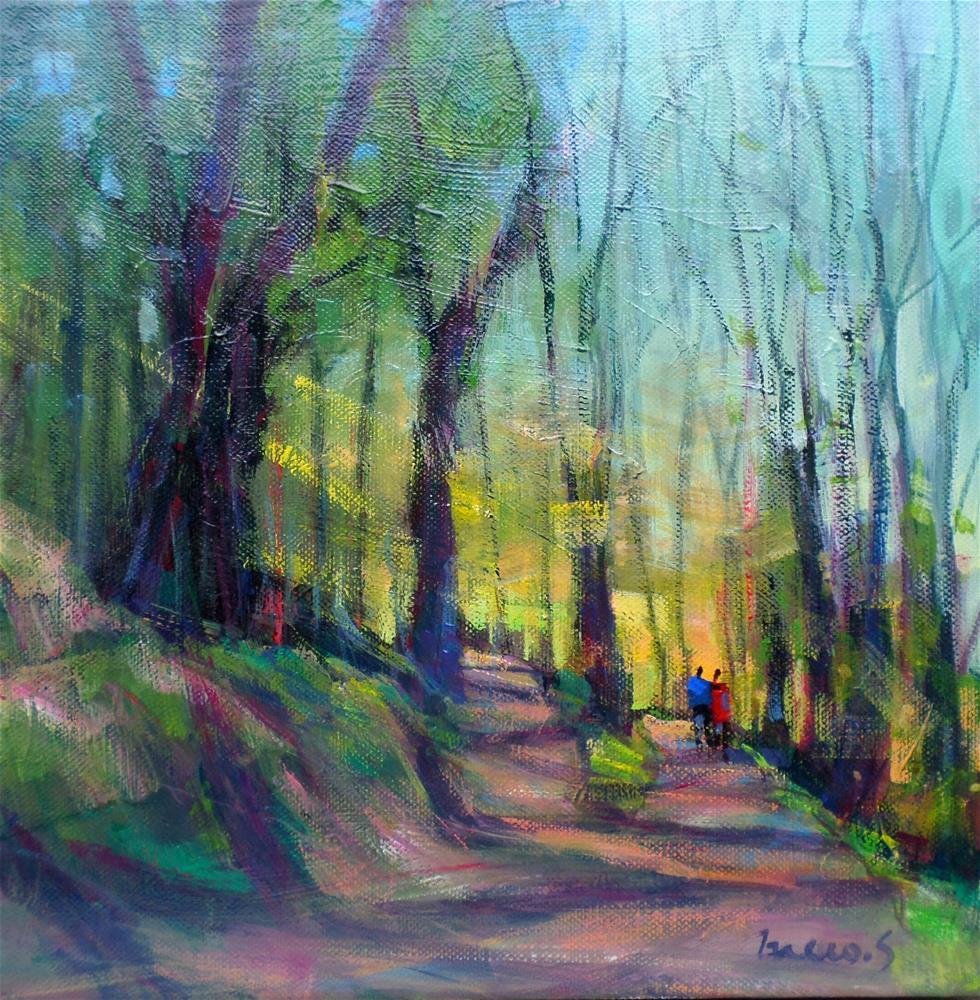 """""""forest wakk"""" original fine art by salvatore greco"""