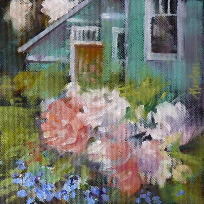 """""""Side Garden 2 SUPER SUMMER SALE"""" original fine art by Barbara Benedetti Newton"""