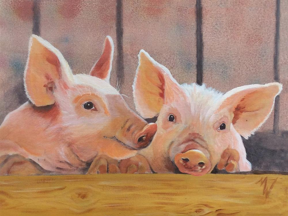 """Gossip"" original fine art by Michelle Wolfe"