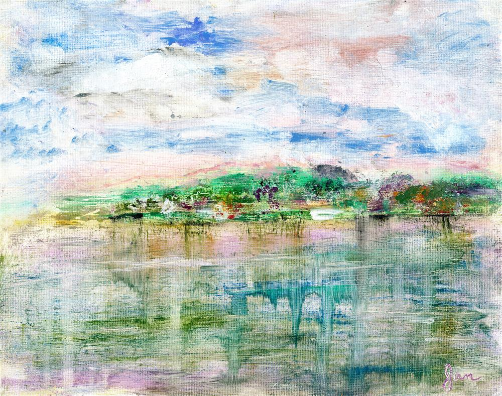 """Reflections of the Lake"" original fine art by Janet Gunderson"