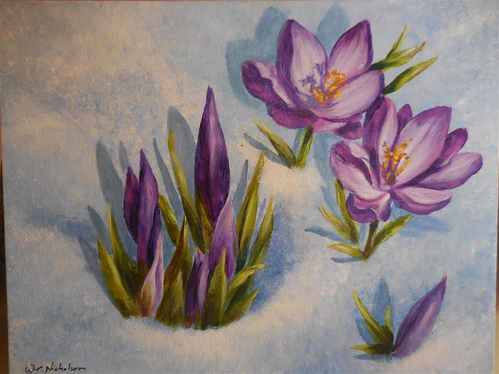 """Signs of Spring"" original fine art by Terri Nicholson"