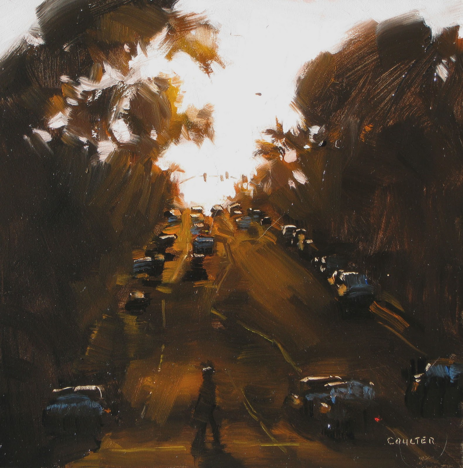 """URBAN SUNDOWN"" original fine art by James Coulter"