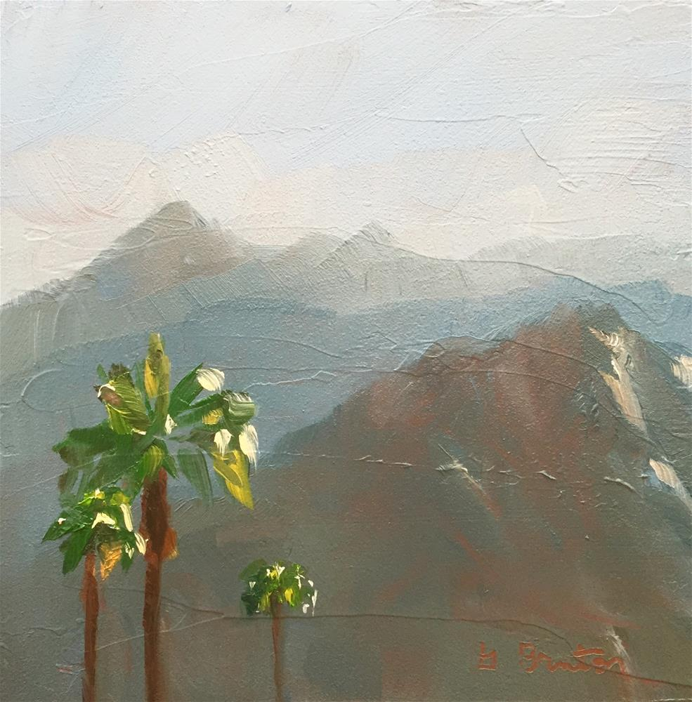 """Mountains South of Palm Springs"" original fine art by Gary Bruton"