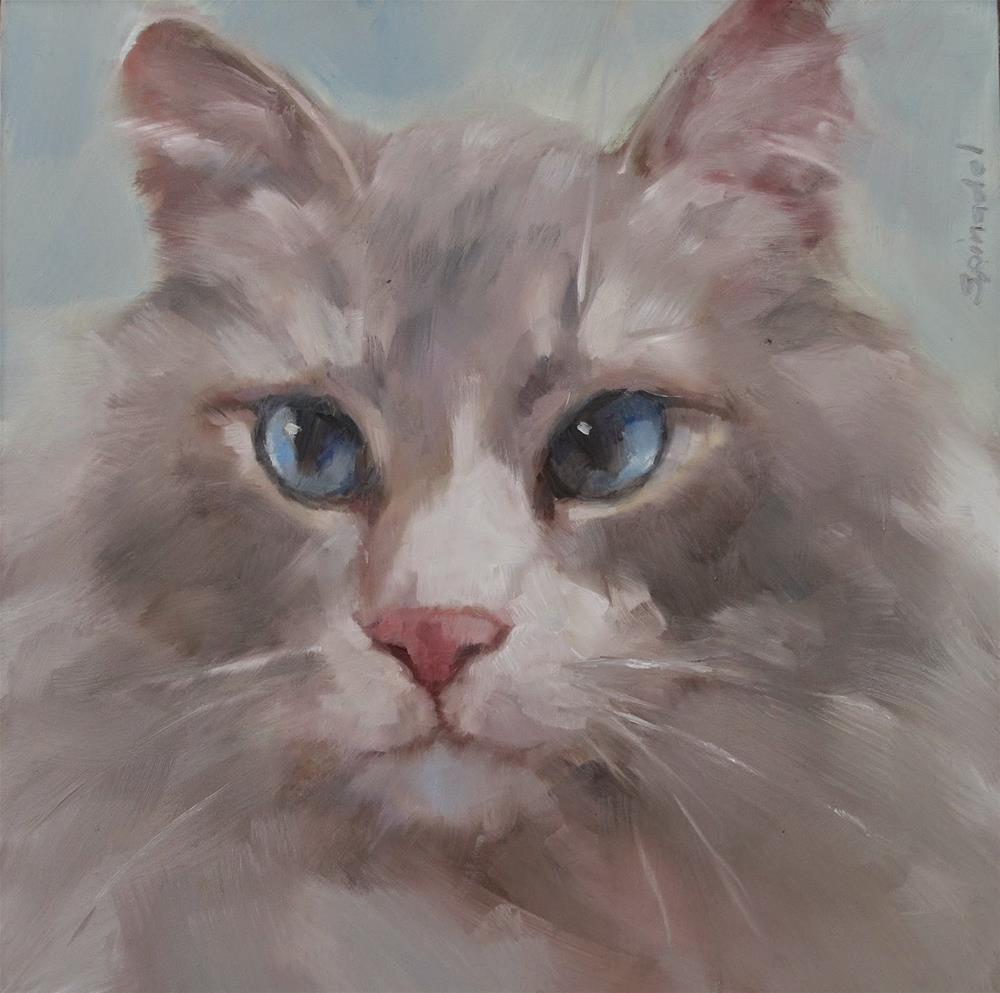 """Jasper"" original fine art by Nancy  Spinadel"