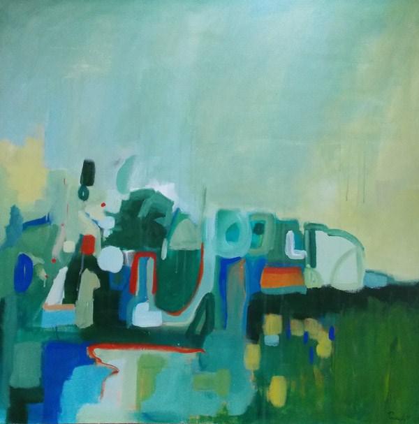 """""""Green Game"""" original fine art by Pamela Munger"""