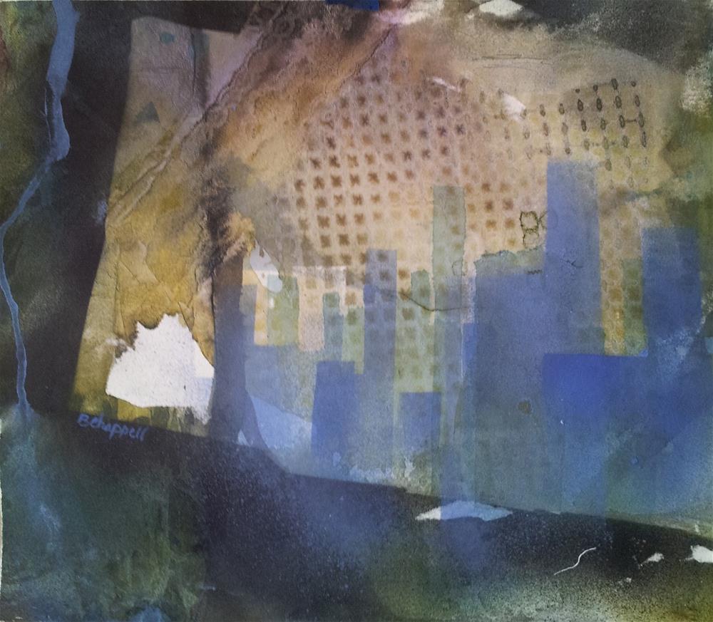 """""""Winter Urban Blues"""" original fine art by Becky Chappell"""