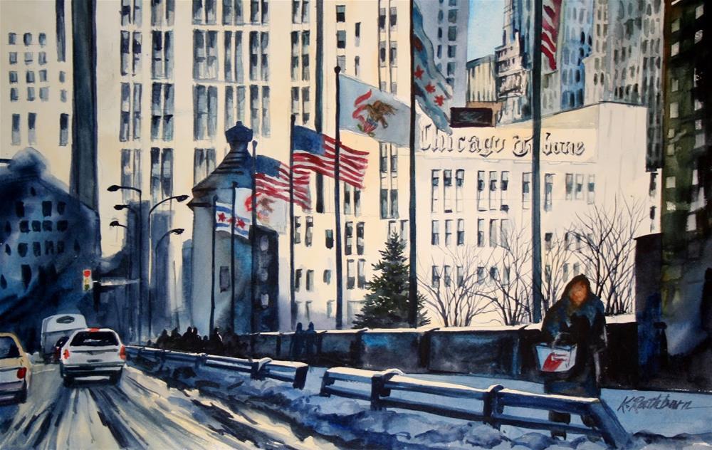 """Chicago Tribune"" original fine art by Kathy Los-Rathburn"